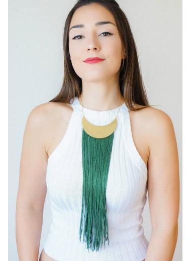 Frans halsband Grön