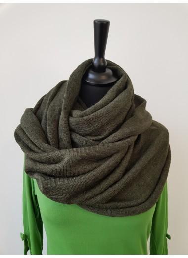 Tubsjal i ull, mörkgrön