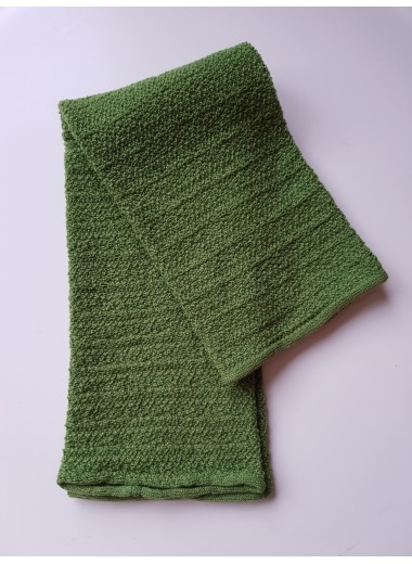 Benvärmare i ull. Grön