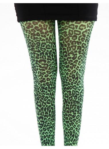 Gröna leopard strumpbyxor