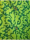 Metervara Grön virvel bomull