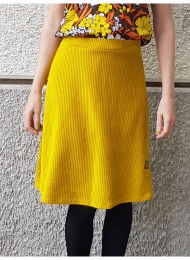 Gul manchester-velour-kjol, S-3XL