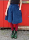 Mörkblå manchesterkjol