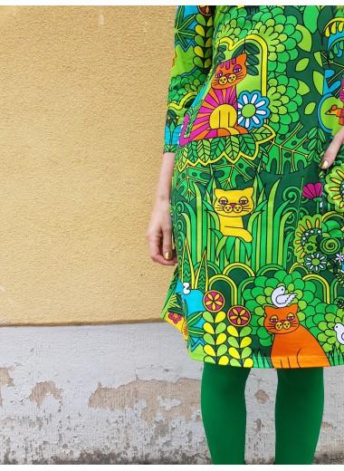 Katt. Trikåklänning Kamomill, S-XL