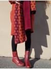 Prickig halsduk i ull. Lila/orange