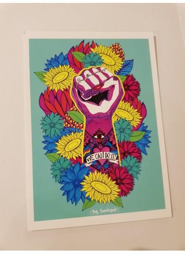 Vykort: Flower power
