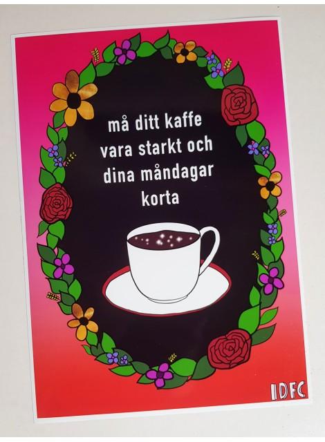 Kaffe. Print i A4