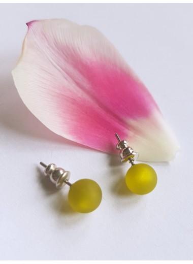 Pluppörhängen Oliv