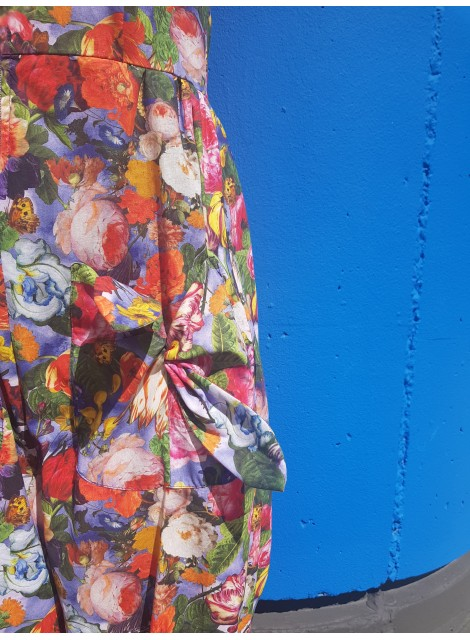 Bow jumpsuit. Blommig. S-XL