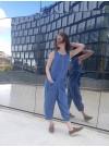 Bow jumpsuit. Blå guld