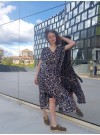 Leopard kaftan / maxiklänning