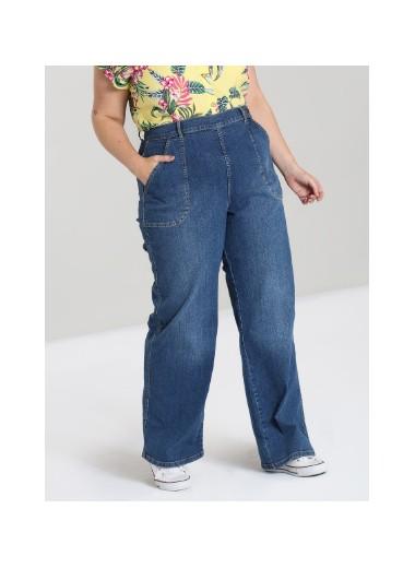 Jeans ljusa, hög midja, XS-4XL