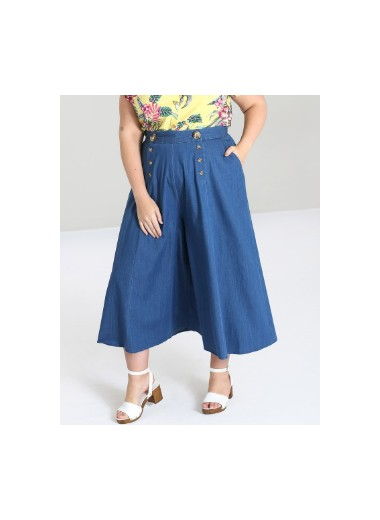 Culotte-byxa denim. S-XL