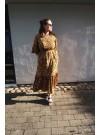 Volangklänning, gul