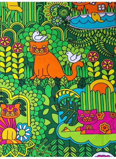 Katt-tyg stor, metervara