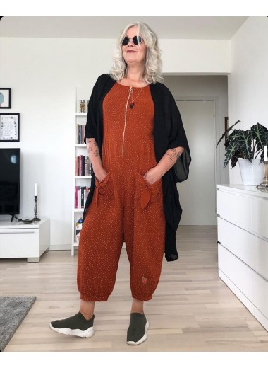 Bow jumpsuit. Tegel. S-XXL