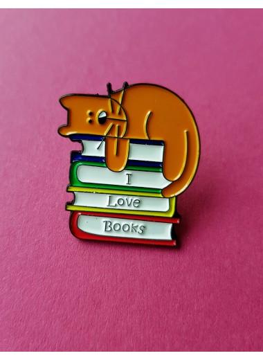 Book cat, pin