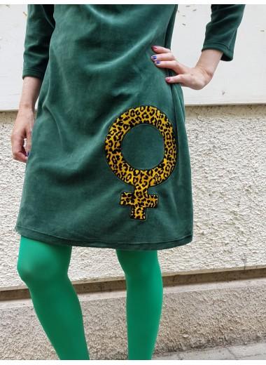 Feminist-velourklänning. XL, XXL