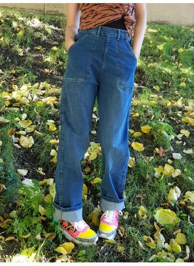 Jeans, hög midja, XS-4XL