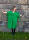 Knytklänning. Grön