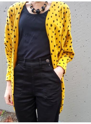 Svarta jeans med hög midja. XS-4XL
