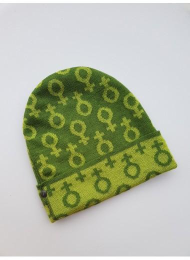 Feministmössa, grön ull