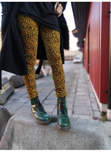 Leopard velourleggings