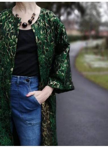 Kimono grön/guld