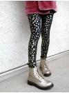Guld/svart leopard. Leggings. S-2XL
