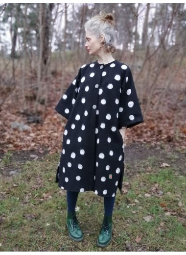 Kimonokappa svart prick