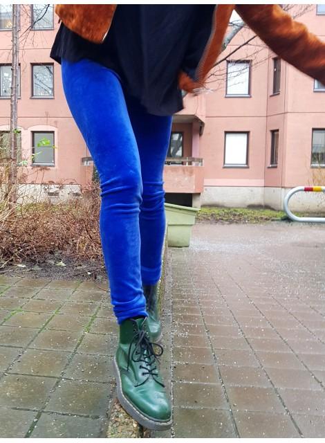 Blå velourleggings M-XXL