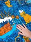 Blå Katt. Trikå metervara