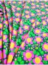 Rosa blomma, trikåtyg