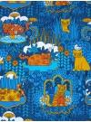Blå katt. Trikåklänning