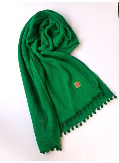 Grön bollfrans, stor sjal