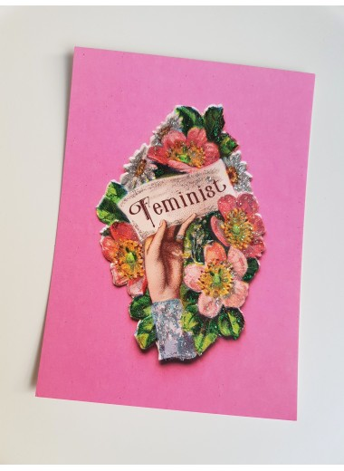 Feminist, bokmärkeskort