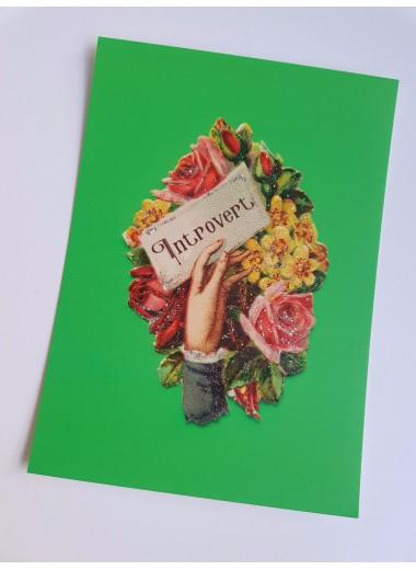 Introvert, bokmärkeskort