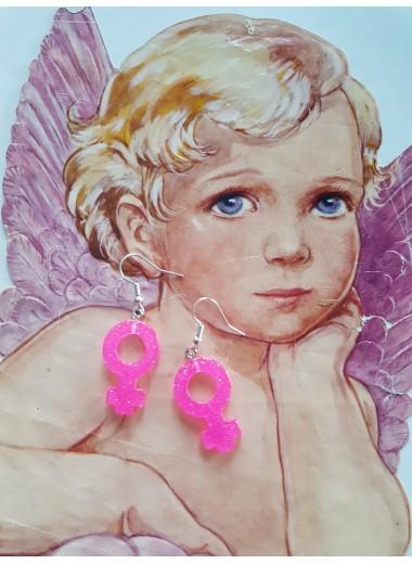 Feministörhängen Hot pink