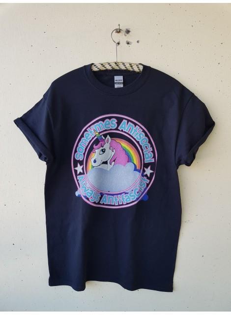 T-shirt. Antisocial antifascist. M