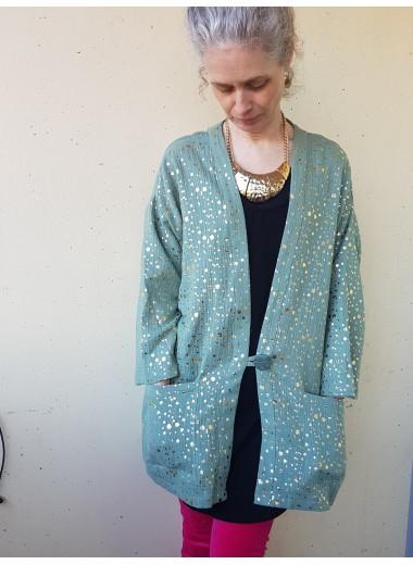Kimonojacka, muslin guldmint
