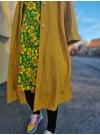 Kimono med knappar, ull