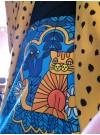 Blå katt. Trikåkjol