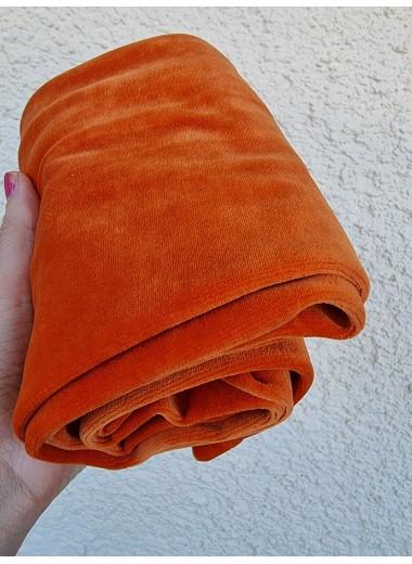 Orange velourleggings