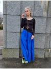 Kornblå volangkjol