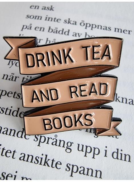 Te & böcker, pin
