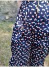 Bow jumpsuit. Blåprickig