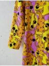 Knaskatt, trikåklänning trekvartsärm. S-XXL