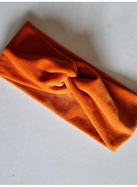 Pannband velour, orange