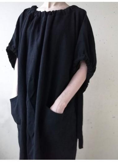 Knytklänning Svart linne