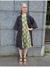 Svart kimono i mjuk college